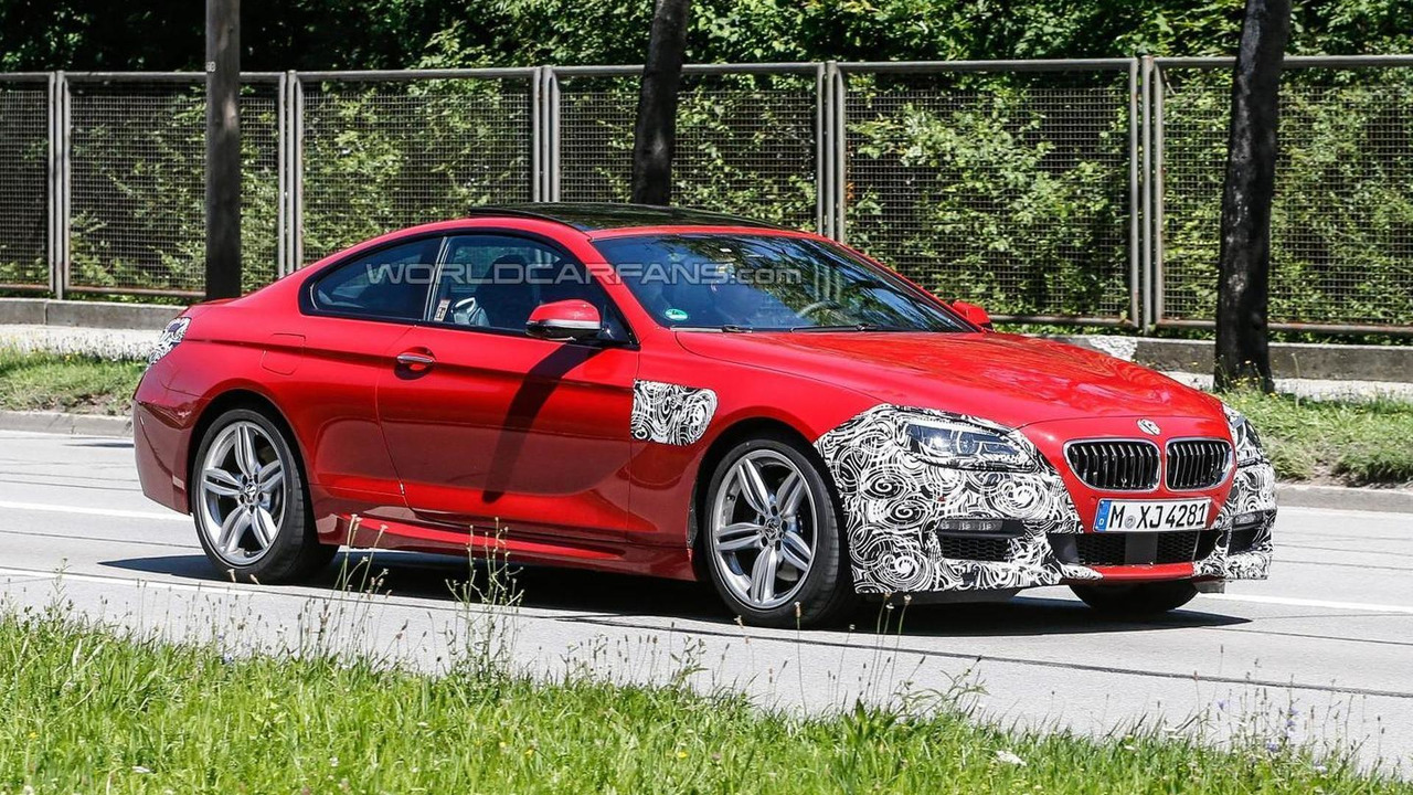 2015 BMW 6-series coupe facelift spy photo