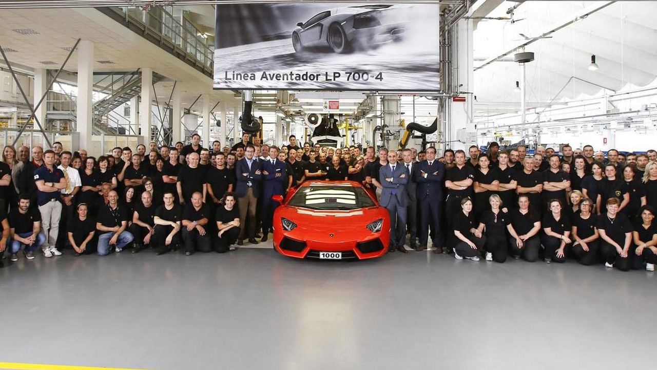 1,000th Lamborghini Aventador LP 700-4 19.7.2012