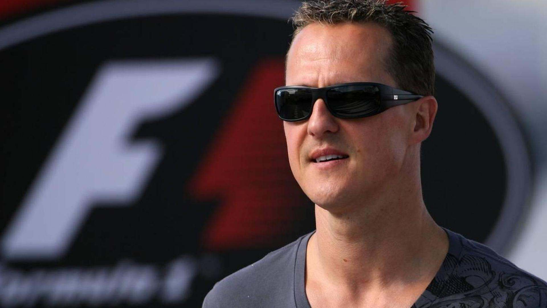 Schumacher accepts 'Man of the Year' award in Berlin