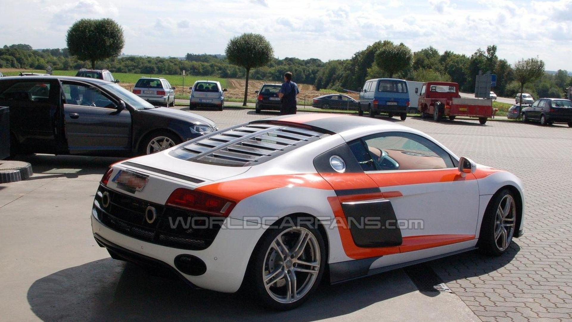 false audi r8 gt rs sighting reported. Black Bedroom Furniture Sets. Home Design Ideas