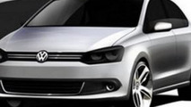 New 2012 VW Polo / Vento sedan sketches surface