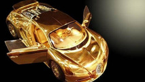 Gold Bugatti Veyron 1:18 scale model costs £2 million
