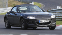 2015 Mazda MX-5 / Alfa Romeo Spider mule spied on the 'Ring