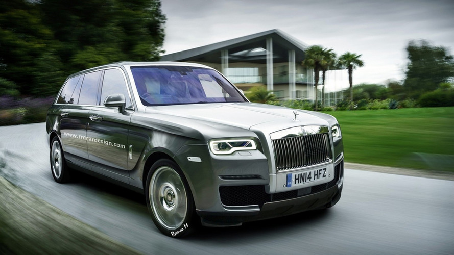 Rolls-Royce Cullinan SUV speculatively rendered