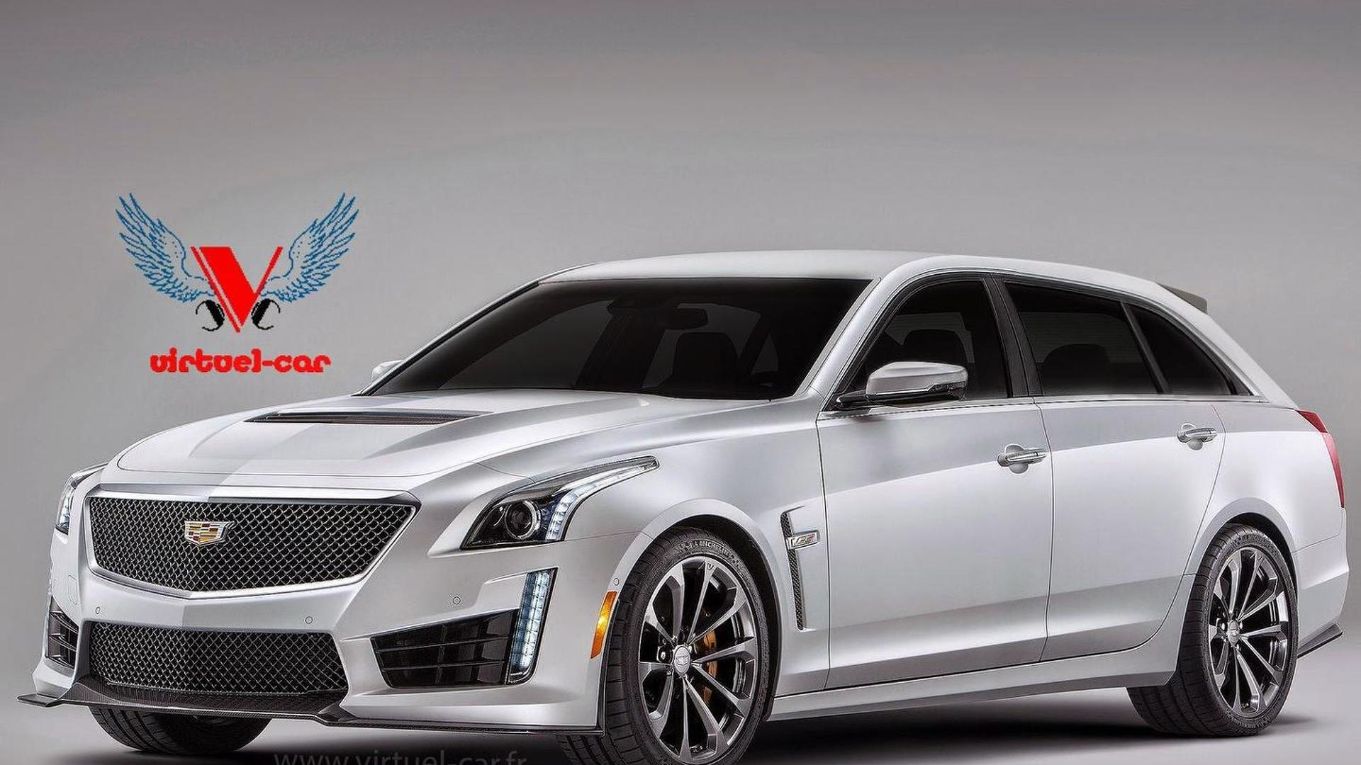 cadillac cts v wagon gets rendered. Black Bedroom Furniture Sets. Home Design Ideas