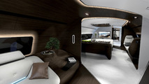 Mercedes reveals luxury aircraft and yacht interiors