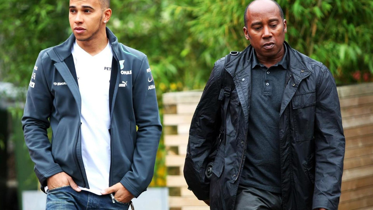 Lewis Hamilton with his father Anthony Hamilton 24.08.2013 Belgian Grand Prix