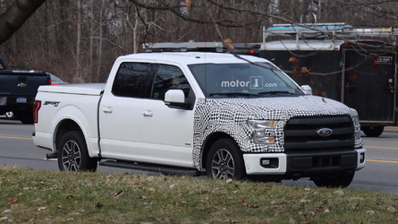 Ford F-150 plug-in hybrid spied testing on the road