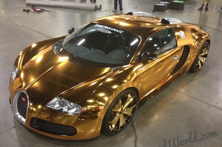 Flo Rida Wraps Bugatti in Gold Chrome Because he's Flo Rida
