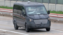 Next Mercedes-Benz Sprinter hides its new face in spy photos