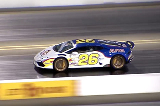 Watch a 'Ricky Bobby' Lamborghini Dominate the Drag Strip
