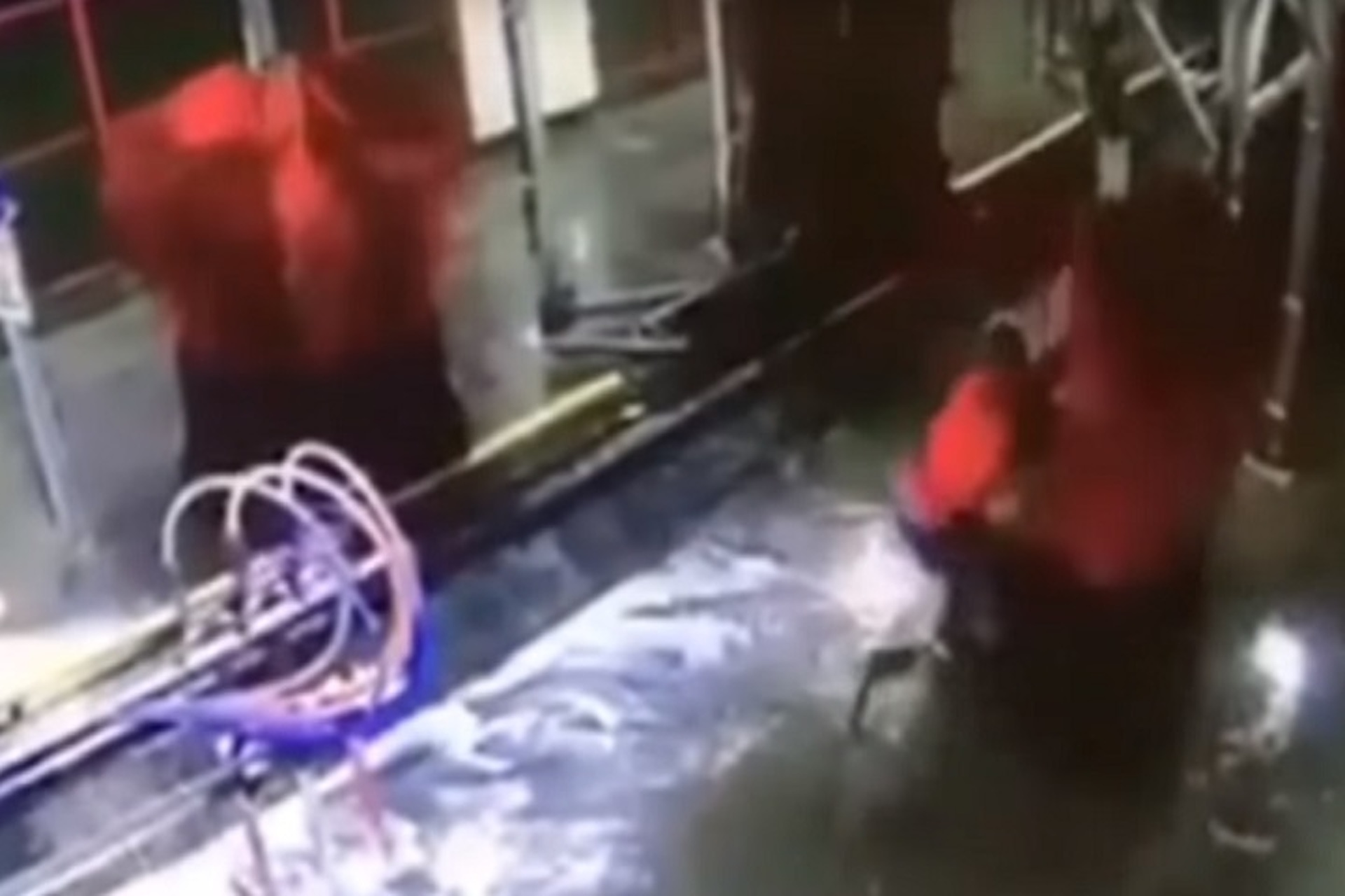 Watch a Car Wash Worker Attacked by a Giant Spinning Brush