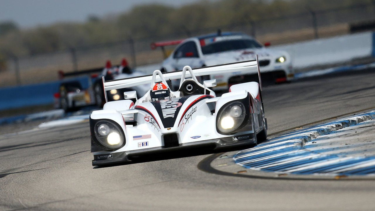 RS Spyder, Muscle Milk Team Cytosport: Greg Pickett, Klaus Graf, Sascha Maassen, American Le Mans Series, round 1 in Sebring, USA, qualifying, 19.03.2010
