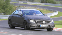 2012 Mercedes CLS63 AMG - latest spy photos from Nurburgring