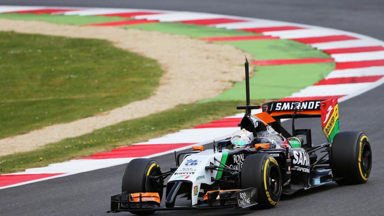 Sahara Force India F1 VJM07 tests, 09.07.2014, Formula One Testing, Silverstone, England / XPB