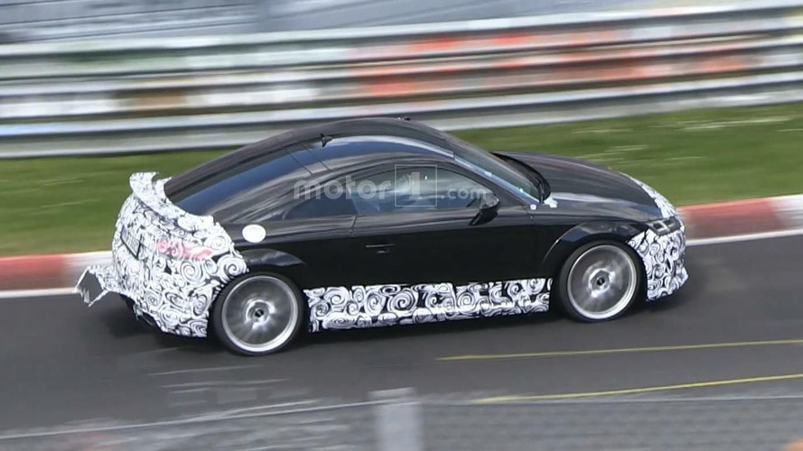Audi TT RS wags its camouflaged tail at the 'Ring