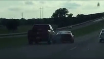 Road-raging pickup pushes Nissan 300ZX off the road