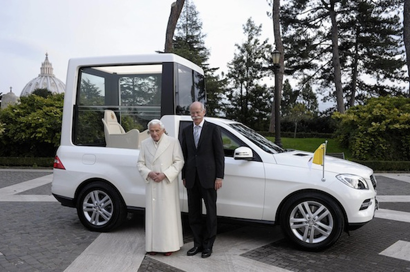 Mercedes-Benz Delivers the Ultimate Popemobile
