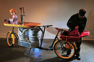 This Bicycle is a Keg Carrying Bar on Wheels