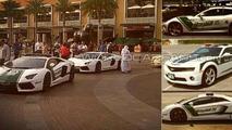 One-77, Aventador, FF, Continental, SLS and Camaro part of Dubai police