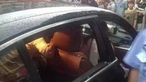 Mother doesn't allow firefighters to smash BMW's window to free her stuck child