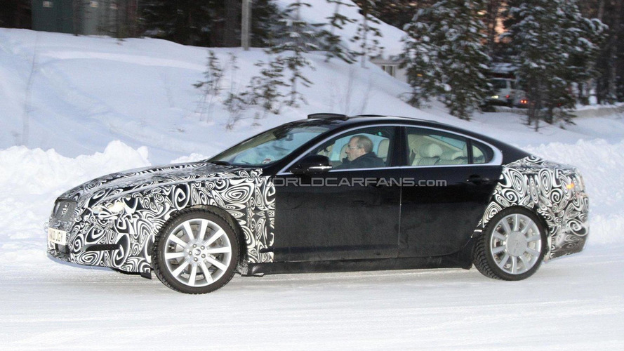 2012 Jaguar XF facelift spied in the cold