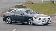 2017 Mercedes-Benz SL facelift spy photo