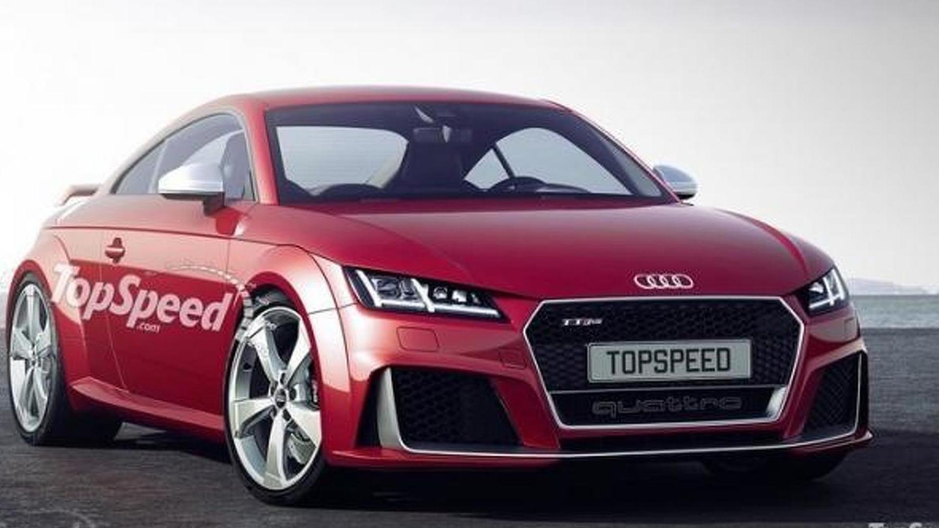 Audi TT RS speculative render shows plausible design