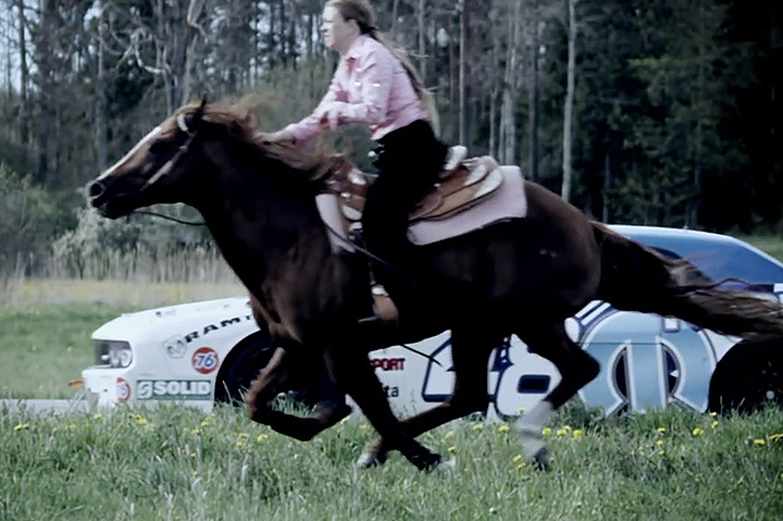 Challenger vs. Horse: See a True Horsepower Battle