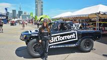 BitTorrent-sponsored female racer rocks Stadium Super Trucks in Toronto