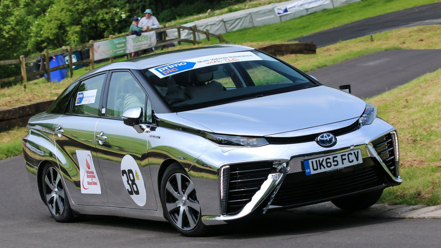Toyota Mirai hydrogen car enters rural UK hill climb