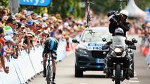 Jaguar F-Pace prototype support vehicle for 2015 Tour de France
