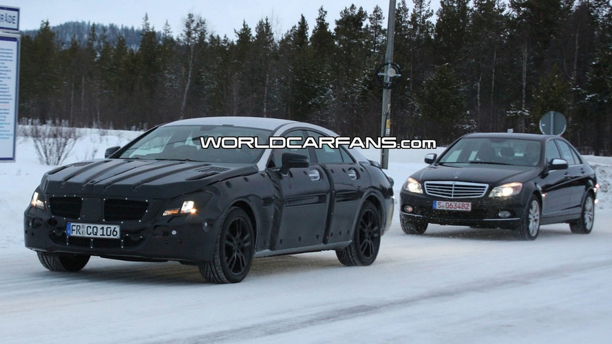 New Mercedes Benz CLS Spied Winter Testing