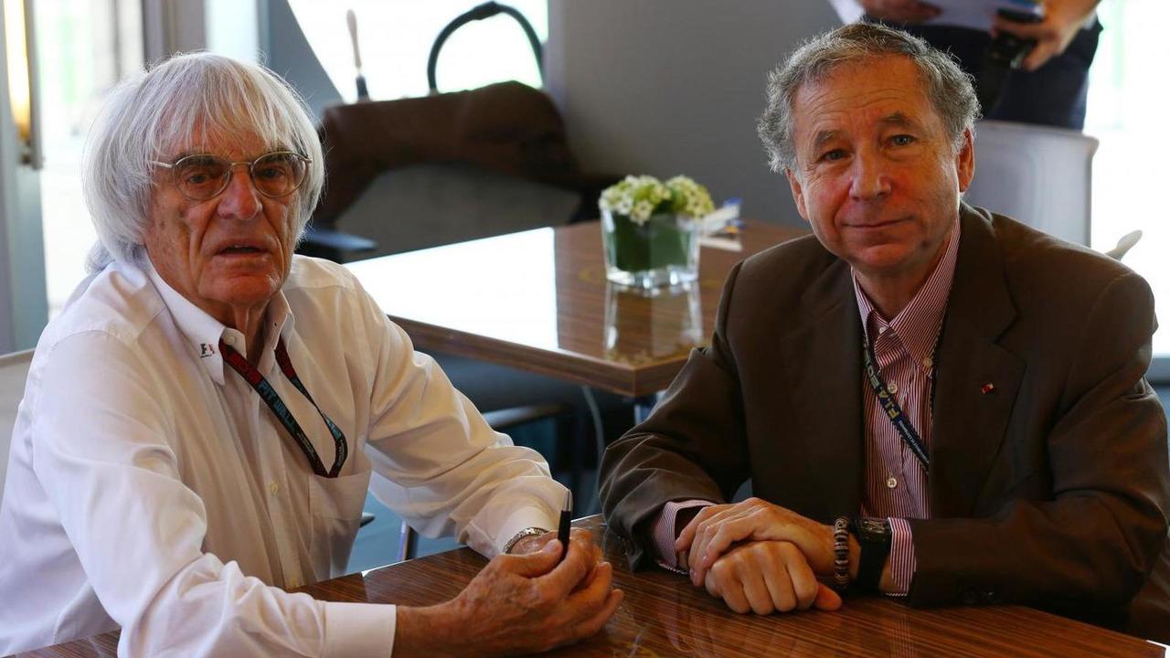 Bernie Ecclestone (GBR) and Jean Todt (FRA) / XPB