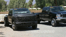 2007 Ford Super Duty Pickup next to 2006 model