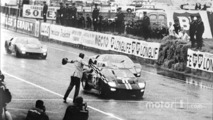 Ford's first win in the 24 Hours of Le Mans, 1966- the winning Ford GT-40 Mark II driven by Bruce McLaren and Chris Amon