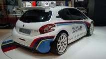Peugeot 208 TYPE R5 rally car live in Paris 27.09.2012