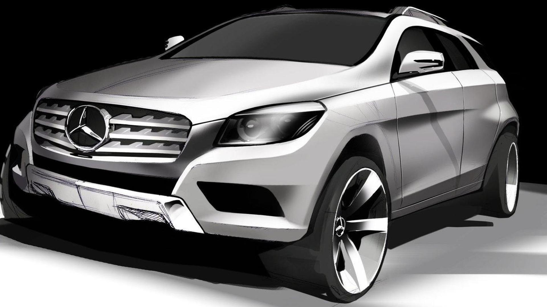 mercedes benz planning mlc to rival bmw x6. Black Bedroom Furniture Sets. Home Design Ideas