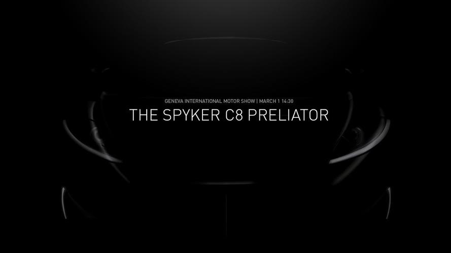 Spyker C8 Preliator teased