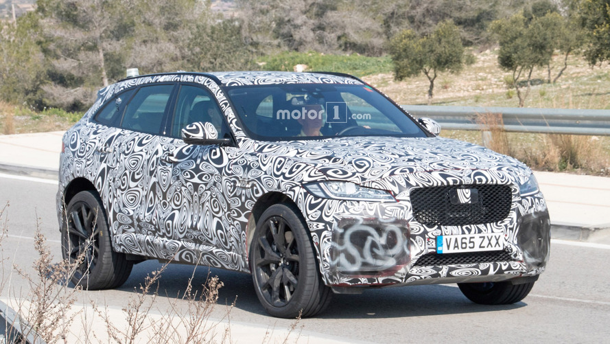 Jaguar F-Pace SVR sheds some camo in new spy shots