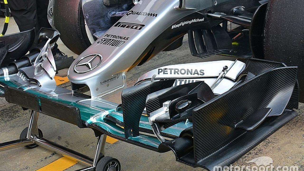Mercedes AMG F1 Team W07 nose detail