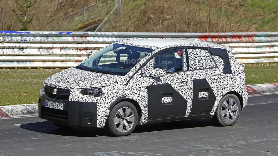 Opel Meriva spied on the Nürburgring