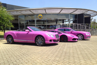 Lamborghini, Bentleys Go Pink for Breast Cancer Awareness