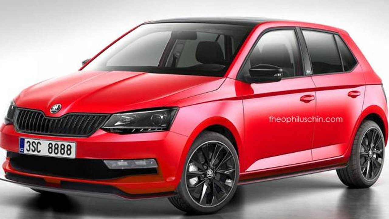 2015 Skoda Fabia Monte Carlo edition - artists rendering