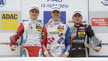 Podium: rookie, Nikita Mazepin, HitechGP Dallara F312 – Mercedes-Benz; Ben Barnicoat, HitechGP Dallara F312 – Mercedes-Benz; Anthoine Hubert, Van Amersfoort Racing Dallara F312 – Mercedes-Benz
