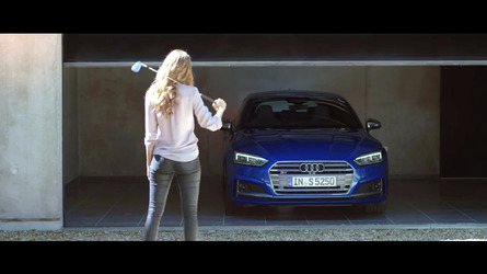 Audi S5 escapes scorned woman's fury in latest commercial