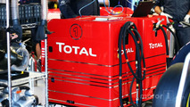 Total fuel rig in the Red Bull Racing pit