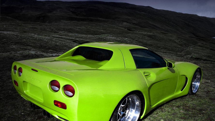 Chevrolet Corvette C5 gets scissor doors and old school vertical rear window