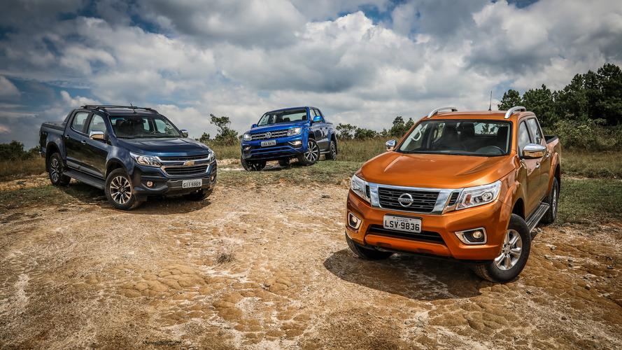 Comparativo - Nova Nissan Frontier chama Chevrolet S10 e VW Amarok para a trilha