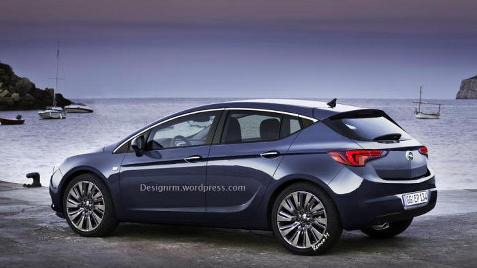 2016 opel astra rendered based on latest spy shots. Black Bedroom Furniture Sets. Home Design Ideas